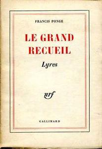 Lyres Francis Ponge